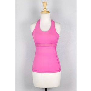 lululemon athletica Tops - Lululemon Swift Tank Neon Pink Cross Back Athletic